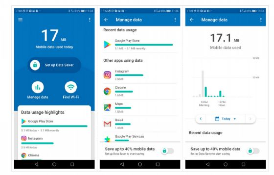 Datally, app Google per consumare meno giga