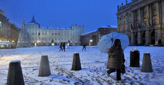 Nevica a Torino