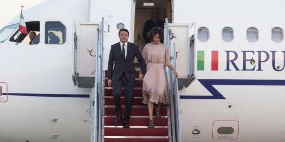 Matteo Renzi con la moglie Agnese