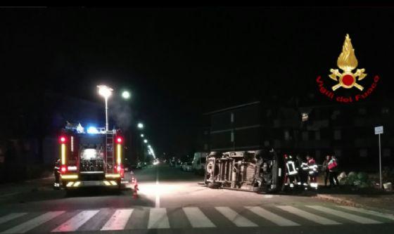 Un momento dei soccorsi (© Vigili del fuoco - Biella)