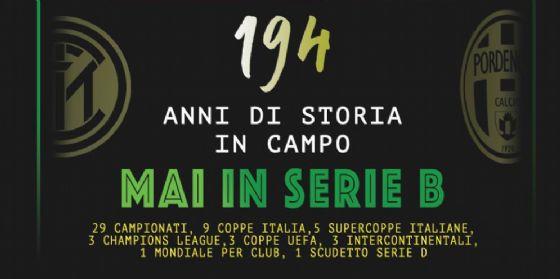 Inter e Pordenone: '194 di storia in campo: mai in serie B' (© Pordenone calcio)