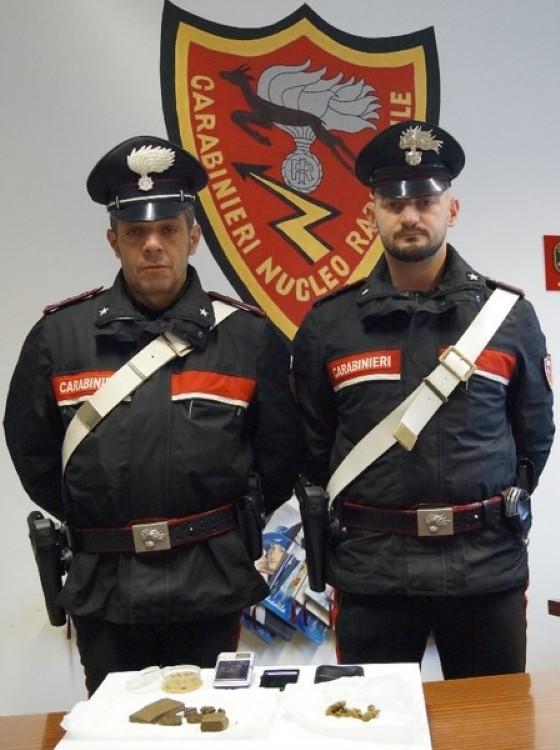 I militari del Nucleo Operativo e Radiomobile della Compagnia di Borgosesia