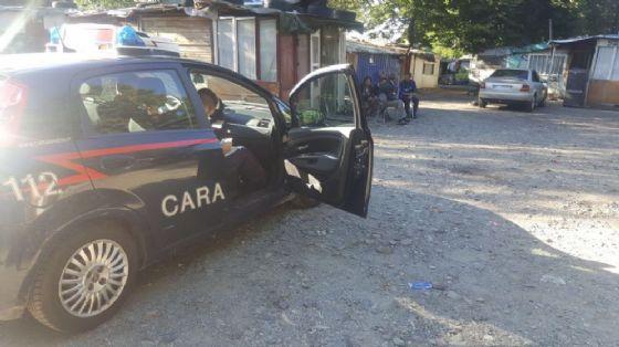 Carabinieri in via Germagnano