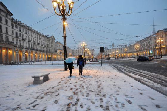 Neve a Torino (immagine d'archivio)