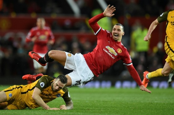 Manchester United striker Zlatan Ibrahimovic (R) has played 73 minutes in five substitute appearances since returning from cruciate knee ligament damage against Newcastle in November