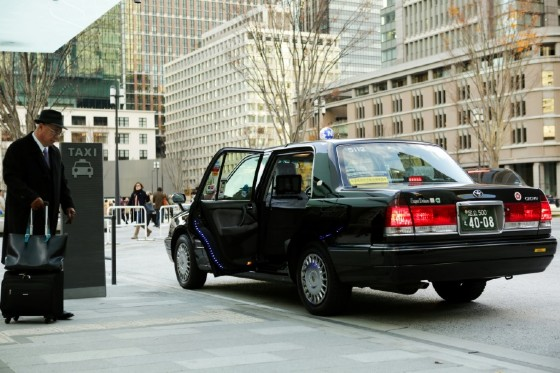 The vast majority of taxis hired in Japan are hailed or taken from ranks
