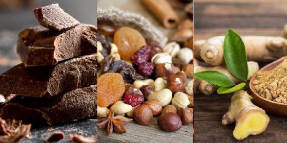 Zenzero, cioccolato e frutta secca per un Natale al top e senza stress