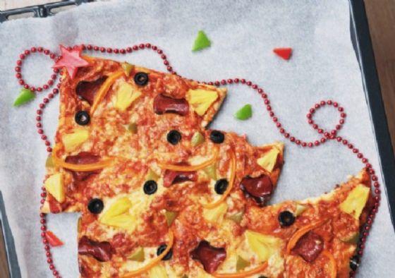 Albero pizza: un antipasto 'natalizio' goloso e simpatico