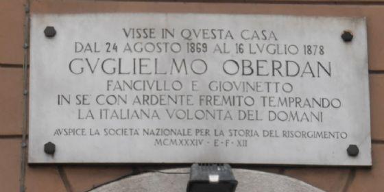 Si ricorda il 135° anniversario delle morte di Oberdan