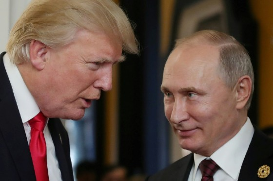 The report's tough tone contrasts sharply with Donald Trump's friendlier face-to-face encounters with Chinese President Xi Jinping and Russian leader Vladimir Putin