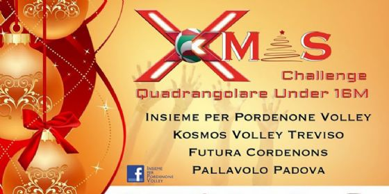 Xmas Challenge: quadrangolare amichevole tra Pordenone, Padova, Treviso e Cordenons (© Insieme per Pordenone Volley)
