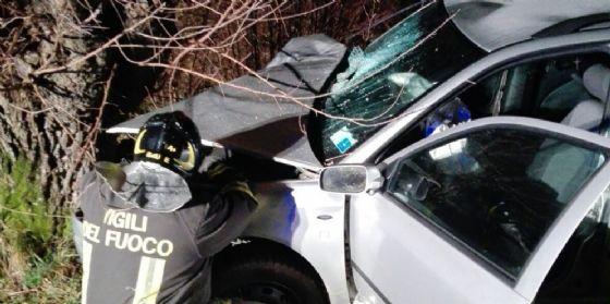 Grave incidente la sera della Vigilia: auto finisce contro un gelso (© G.G.)