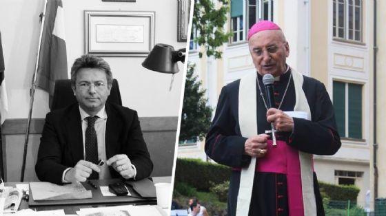 Sindaco Cavicchioli e vescovo Mana