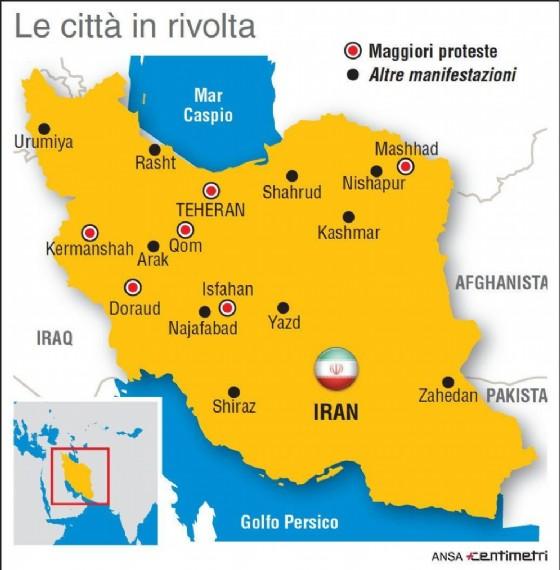 Nell'infografica realizzata da Centimetri la mappa delle principali città con manifestazioni di protesta