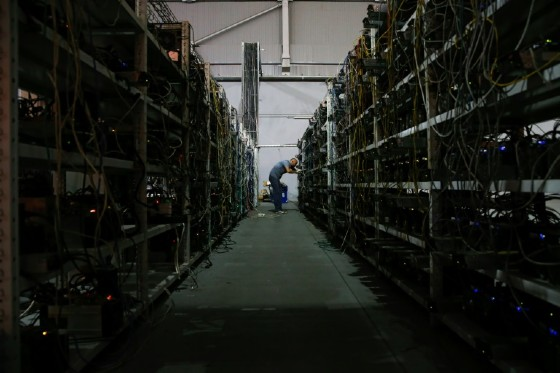 Cryptocurrency mining farms like this one in Russia use lots of electricity, and their environmental impact depends on how that electricity is generated.