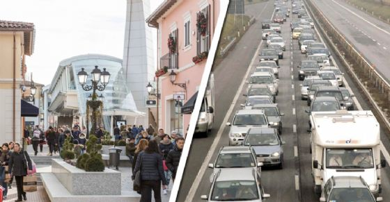 Tantissime persone a Serravalle per il primo giorno di saldi