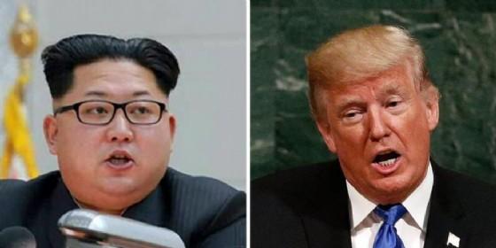 Il leader nordcoreano, Kim Jong-Un e il Presidente americano, Donald Trump