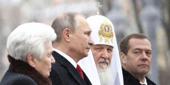 Il Presidente russo, Vladimir Putin con il patriarca Kirill