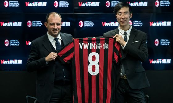 Vwin nuovo sponsor del Milan