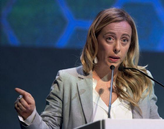 La leader di Fratelli d'Italia Giorgia Meloni