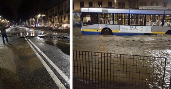 Voragine in corso Regina Margherita a Torino, disagi al traffico