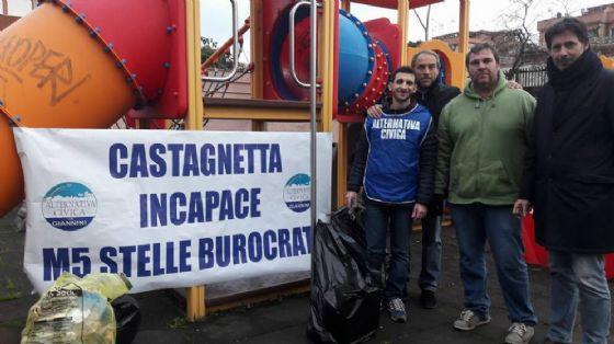 La manifestazione nel parco di via Francesco Albergotti