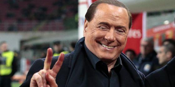 L'ex presidente del Milan Silvio Berlusconi