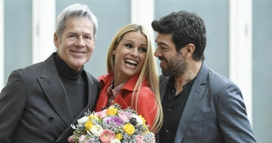 Claudio Baglioni, Michelle Hunziker e Pierfrancesco Favino