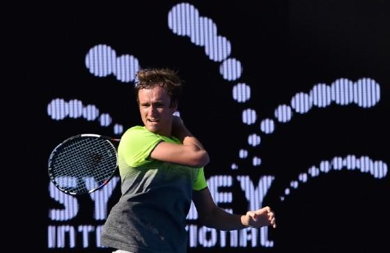 Daniil Medvedev of Russia upset Italian fourth seed Fabio Fognini 2-6, 6-4, 6-1 to reach the Sydney men's final