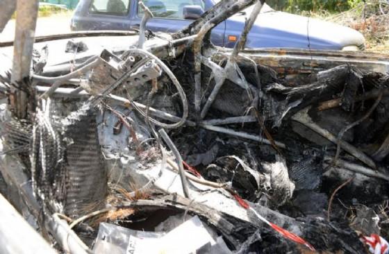 L'auto in cui è morto il senzatetto