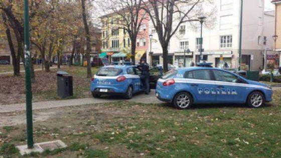 La polizia intervenuta per la rapina