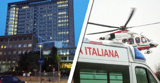 L'uomo è stato trasportato al Cto di Torino (© Diario di Torino)