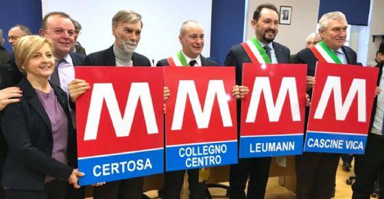 Il Ministro Delrio con i sindaci di Collegno, Grugliasco e Rivoli