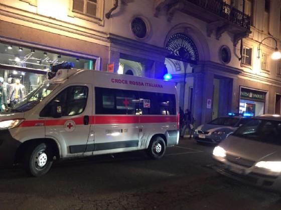 Anche l'ambulanza sul posto