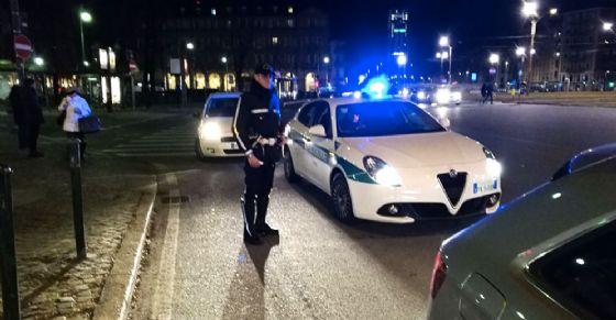 La polizia municipale sul luogo dell'incidente