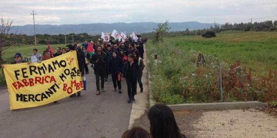 Corteo di protesta a Domusnovas contro la Rwm.
