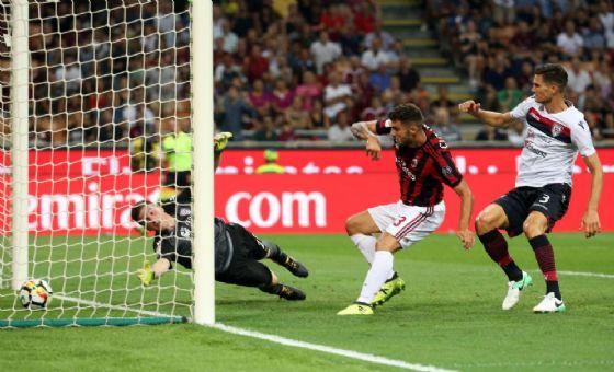 Il gol di Cutrone nel match d'andata tra Milan e Cagliari