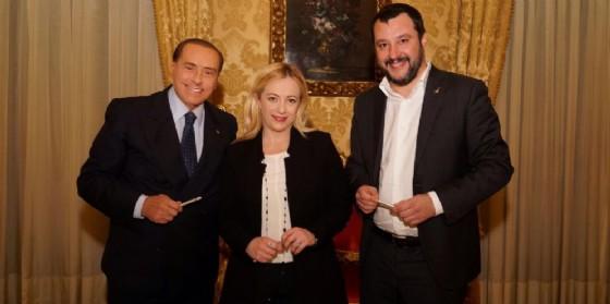 Silvio Berlusconi, Giorgia Meloni, Matteo Salvini