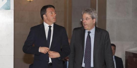 Matteo Renzi (Segretario del PD) e Paolo Gentiloni (Presidente del Consiglio)