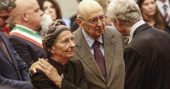 Emma Bonino con l'ex Presidente della Repubblica, Giorgio Napolitano
