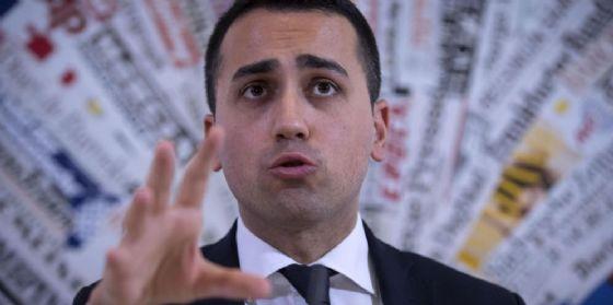 Il candidato premier M5S Luigi DI Maio