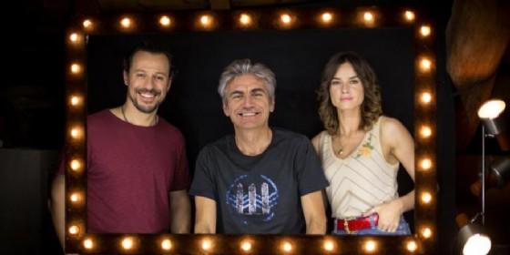 Stefano Accorsi, Luciano Ligabue e Kasia Smutniak