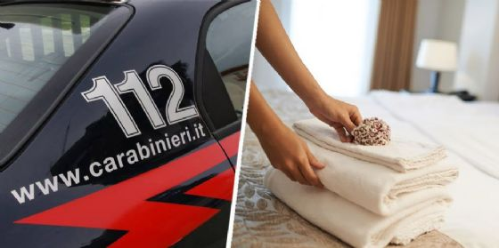L'auto dei Carabinieri e un albergo