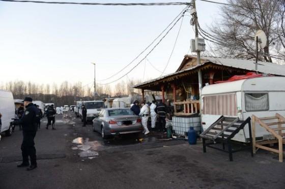 Il blitz al campo nomadi dello scorso 19 gennaio