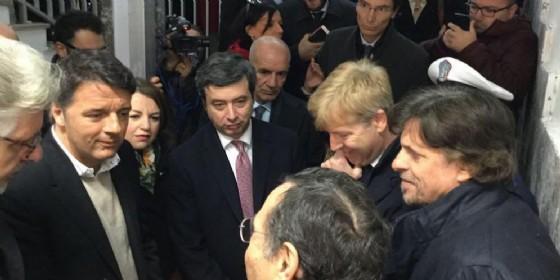 Il segretario Pd Matteo Renzi e il ministro della Giustizia e volto della minoranza Andrea Orlando.