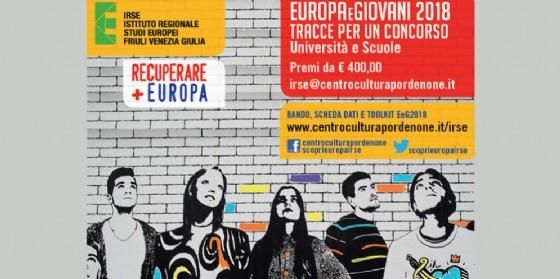 """""""Europa&Giovani 2018"""": al via il bando internazionale del concorso Irse"""