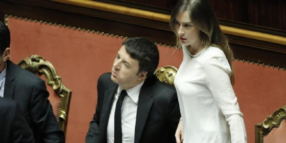 Matteo Renzi con Maria Elena Boschi