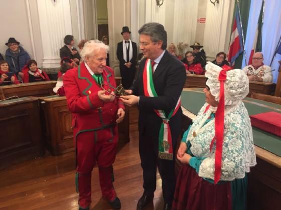 Un momento della cerimonia di sabato scorso a Palazzo Oropa