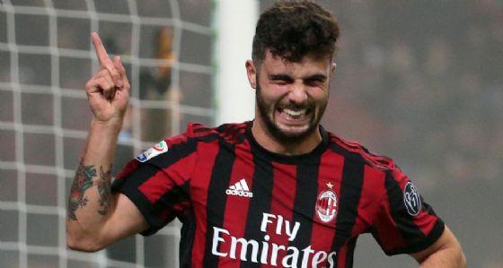 La gioia di Cutrone dopo il gol segnato alla Lazio