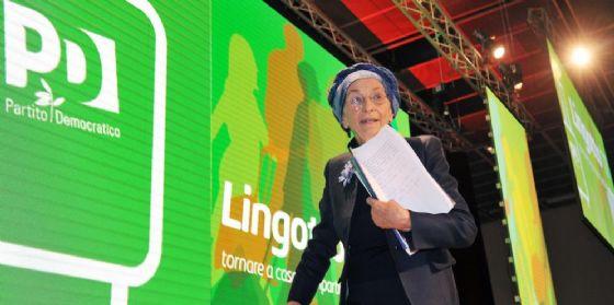 Emma Bonino alla kermesse del Pd organizzata al Lingotto, Torino, 11 marzo 2017.